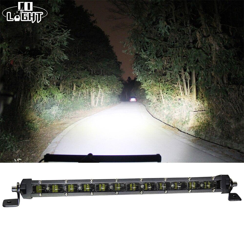 CO 90 W 20 ''Barra Led Slim Offroad 6D 6000 K solo Barra de luz de trabajo Combo para Barra led Lada Niva Jeep 4x4 coche Ford estilo