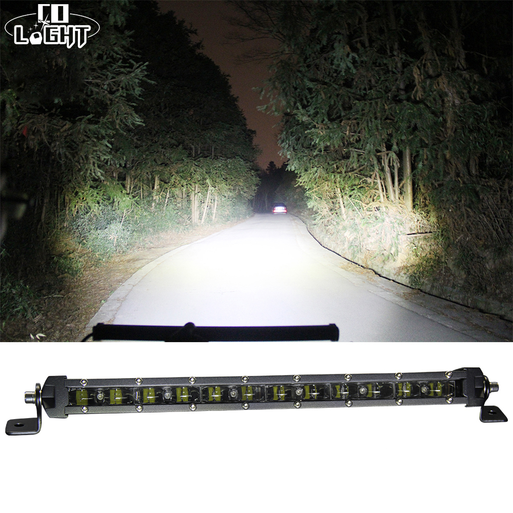 CO LIGHT 90W 20'' Led Bar Slim Offroad 6D 6000K Single Work Light Bar Combo for Barra Led Lada Niva 4x4 Jeep Ford Car Styling 7 inch 60w 6d led light bar lamp offroad waterproof 6000k universal work bulbs