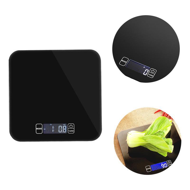15 kg Digitale Weegschaal Multifunctionele Voedsel Schaal voor Koken met Grote Back-lit LCD Display (Zwart)