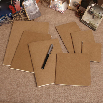 10PCS 30 Page Creative 80g Kraft Paper Notebook Blank Page Sketchbook Car Line Printing Traveler notebook Various styles lanzarin page 3