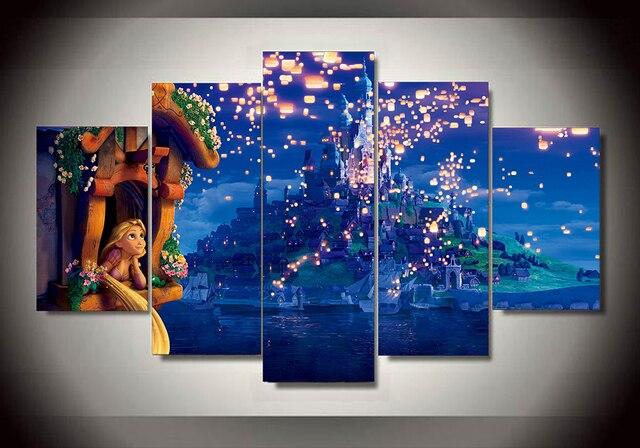 Prinses Kinderkamer Set : Unframed gedrukt prins en prinses stuk muur kinderkamer decor