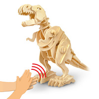 Robotime Sound Control Walking T Rex 3D Assembly DIY Steam Stem Toys For Children Christmas Gifts