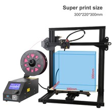 (Ship From DE) Professional High Accuracy 3D Printer Super Printing Size 300*220*300mm Support PLA Soft Materials Wood EU Plug