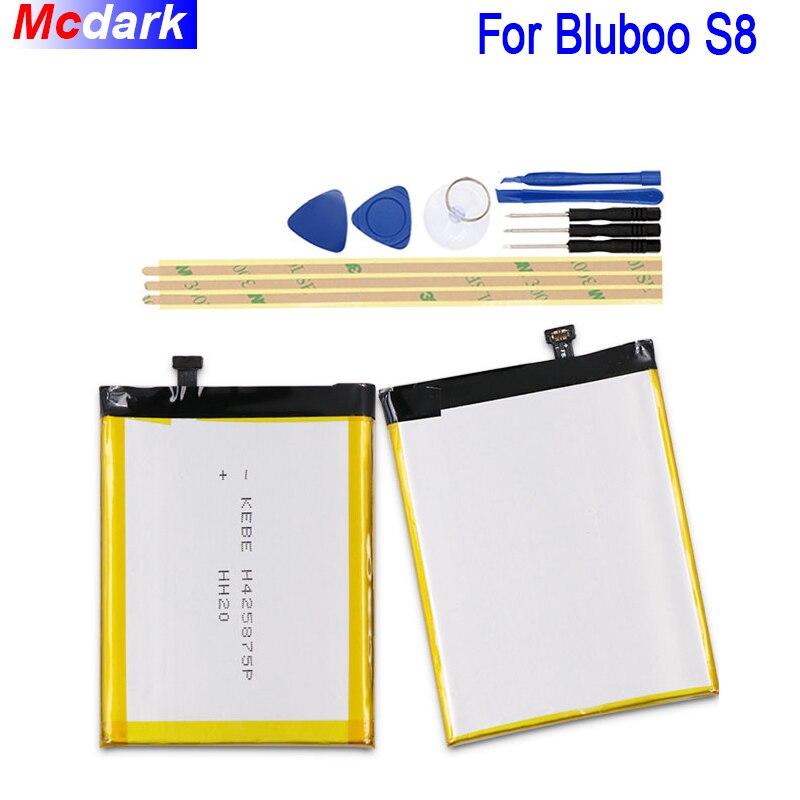 3450 mAh Batterie Pour Bluboo S8 Batterie Bateria Accumulateur AKKU ACCU PIL Mobile Téléphone Pour Bluboo S8 avec Outils