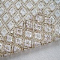 Cổ điển Vàng Châu Phi Shining Hồng Sequin Ren Vải Pháp Openwork Lưới Cưới Trang Phục Rèm Vải May Vải Nhiều Loại