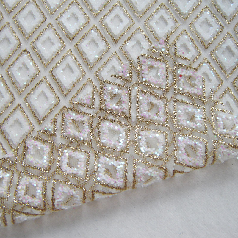 Classic gold african shining pink sequin lace fabric for Apparel fabric