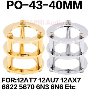 цена на PAPRI Gold Rhodium Plated Brass Vacuum Tube Guard Protector Cover For 12AU7 12AX7 6N3 6N6 HIFI Vintage  Audio Amplifier DIY