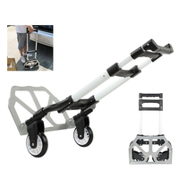 FOLDING SACK TRUCK ALUMINIUM HAND TROLLEY WAREHOUSE CART WHEEL BARROW LIFTER