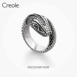 Женское кольцо с тропической мистической змейкой, новинка 2019 года, из стерлингового серебра 925 пробы, в богемном стиле, миф о джунглях, подар...