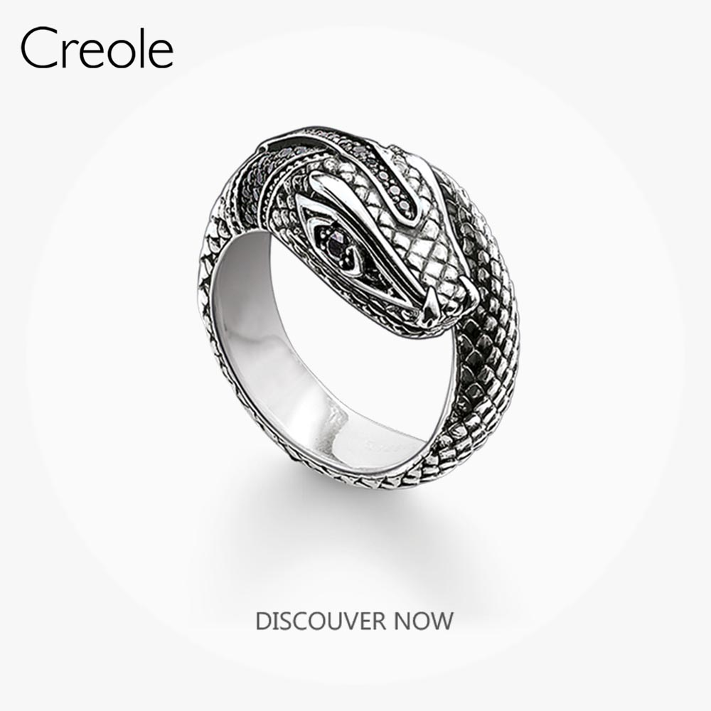 The Tropical-mystical Ring Snake,2019 Brand New 925 Sterling Silver Bohemia Fashion Jewelry Myth of the Jungle Gift For Women(China)