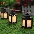 Черный белый 10led фонарь свет летом Патио струнные светильники фея праздник Рождество сад освещение с питанием от батареи 3 В AA закрытый