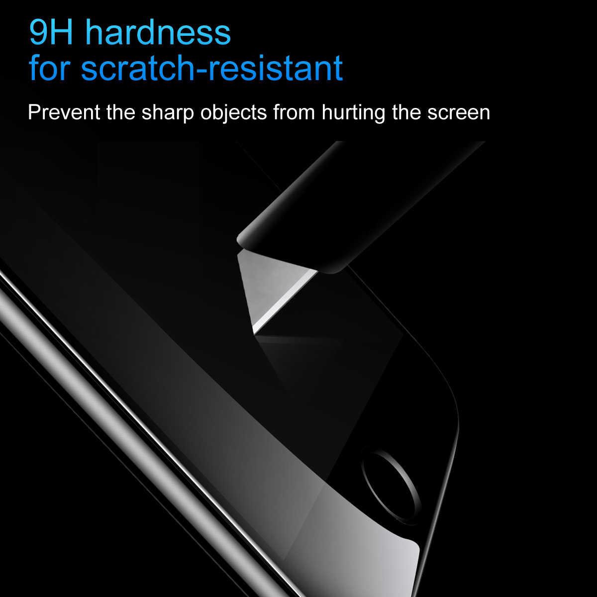 Baseus 0.2 مللي متر خفف زجاج عليه طبقة غشاء رقيقة آيفون 8 7 8plus 7plus سوبر رقيقة ثلاثية الأبعاد غطاء كامل حماية مكافحة الأزرق ضوء واقي للشاشة