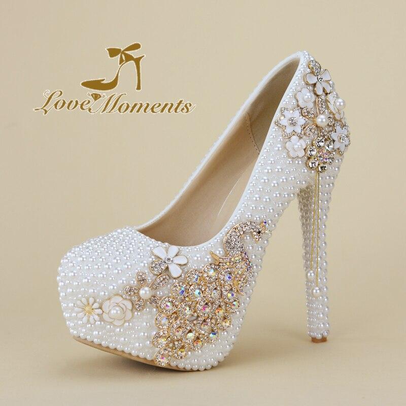 Scarpe Donna Sposa.Perline Bianco Perla Scarpe Da Sposa Donna Sposa Scarpe Da Sera