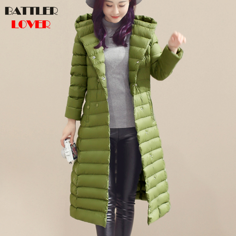Winter Light   Down   Women Ultralight White Duck   Down     Coats   Female Mujer Goose Jacket Ladies Hoody   Coat   Womens Warm Long Overcoats