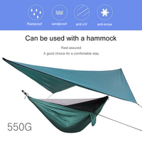 360cm*290cm Waterproof Hammock 210T Plaid Fabric PU2000 Water Pressure Sun Shelter For Camping Hammock Outdoor Camping Tent