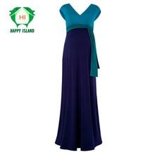 Alta calidad summer dress s-3xl tencel de la tobillo-longitud de maternidad embarazo ropa elegant lady prom party vestidos vestidos de playa