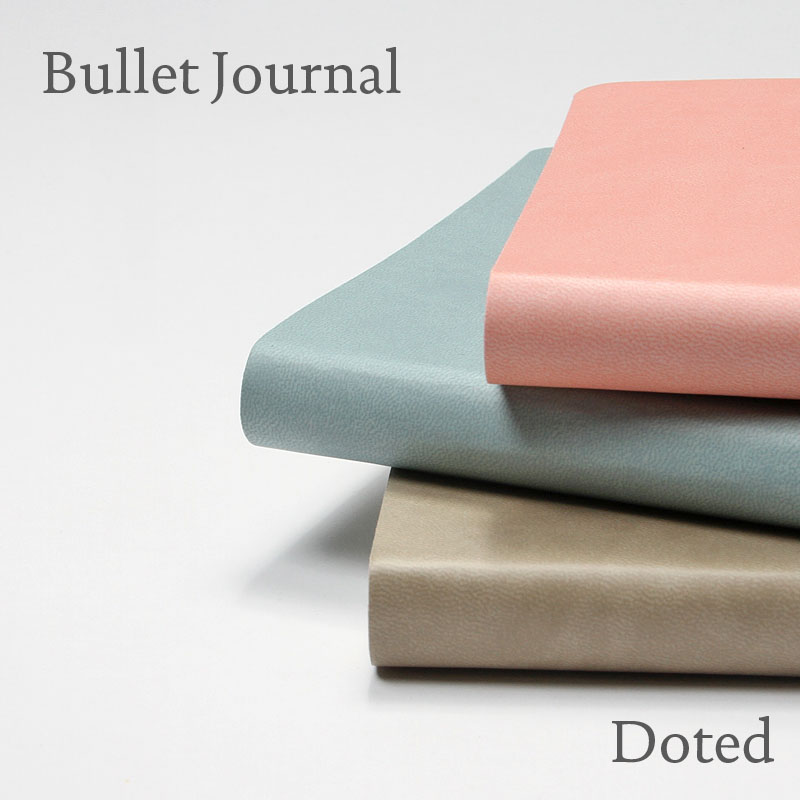 Diario de cuaderno de mano Simple cuadrícula de puntos Bujo