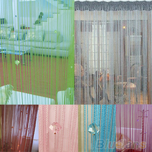 HOT String Door Curtain Fly Screen Divider Room Window Decor DIY Blind Tassel Drape+40pcs beads  91UH