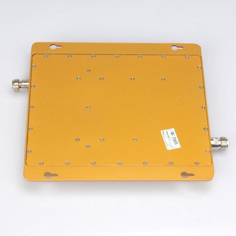 Amplificateur de Signal Mobile DCS 1800 mhz 3G WCDMA UMTS 2100 mhz répéteur de téléphone portable 65dB amplificateur Celluar à double bande d'affichage à cristaux liquides 2G 3G 4G - 4