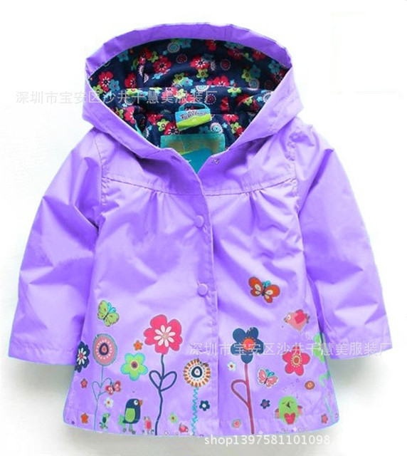 5 color 2015 Girl's Fashion Outerwear & Coats blazer Trench Spring Autumn Girls Hoodies Jackets Baby rain coat Children's Coat