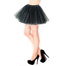 Women Tulle Tutu Mini Organza 3 layers Skirt Party Performance Gorgeous Girl tutu Petticoat