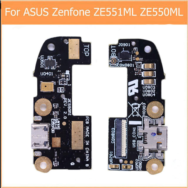 Genuine USB Charging Microphone PCB Connector Port Jack Board For Asus Zenfone 2 ZE551ML Z550ML 5.5