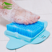 Bath Foot Scrubber Shower Foot Brush Exfoliating Feet Cleaning Brush With Sucker Foot Massager Bathroom Spa