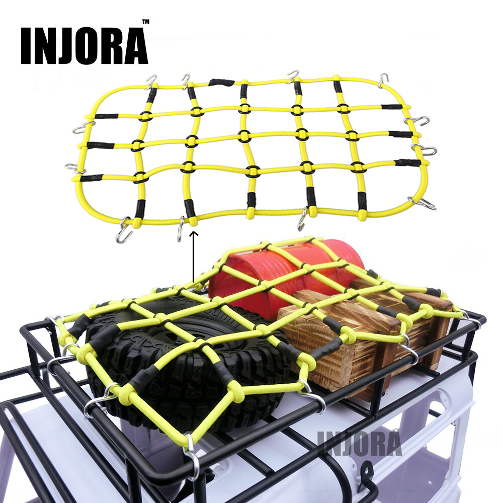 RC coche accesorios 6 colores elástico equipaje neto para 1/10 RC Crawler SCX10 90046 Tamiya CC01 D90 Traxxas TRX-4 TRX4