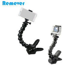 20CM Flexible Monopod with Clamp for Gopro Sjcam Xiaoyi Cameras Goose Neck Mini Selfie Stick for Iphone Xiaomi Android Phones flexible octopus monopod goose neck for gopro cameras selfie stick with phone holder for iphone xiaomi huawei samsung phones