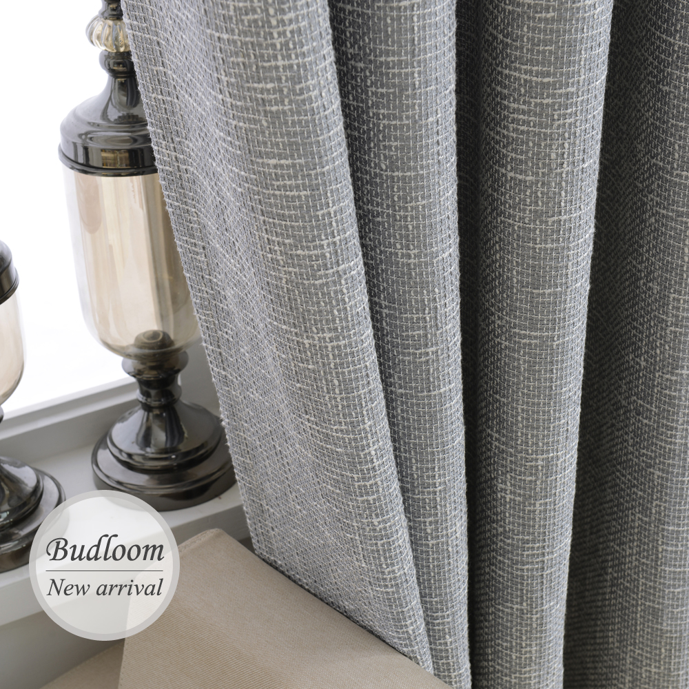 Cheap grey curtains - Modern Blackout Linen Curtains Solid Color Drapes Grey Red Blue Thicken Bedroom Cortinas For Windows Living