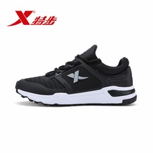 ФОТО xtep original brand men's light weight running shoes black sports trainers shoes summer style breathable sneakers 983119529261