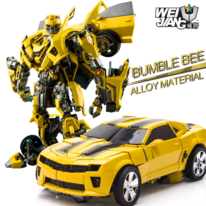 Weijiang  Bumblebee  M03 Alloy deformed toy king 5 hornet bug boy robot Transformation toys Movie 5 Robot Car Toys Anime Gift real transformation car robot human alliance bumblebee and sam birthday gift for boys