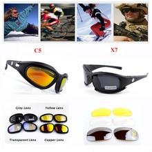 ФОТО daisy c5 desert storm sunglasses 4 lenses goggles tactical eyewear eye protection for airsoft uv400 glasses