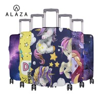ALAZA Elastic Luggage Protective Cover For 18 32 inch Suitcase Protect Dust Case 3D Cartoon Unicorn Prints Travel Accessories