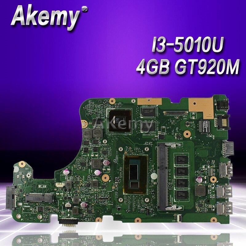 Akemy X555LD Laptop motherboard for ASUS X555LD X555LDB X555LA X555LB X555L X555 Test original mianboard 4G RAM I3 5010U GT920M-in Motherboards from Computer & Office    1