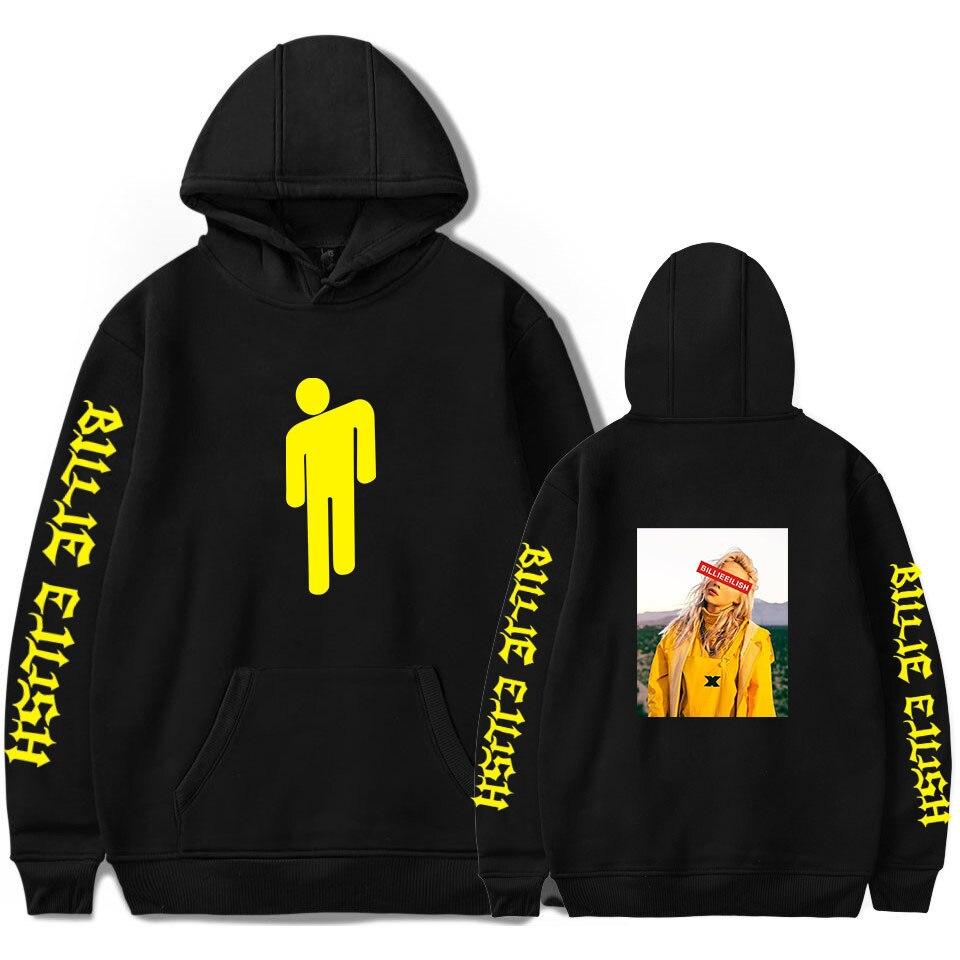 Amazon Sell like Hot Cakes Trend Billie eilish Sweatshirt Rap Singer Surrounding Loose L Hooded Sweatshirt Футболка