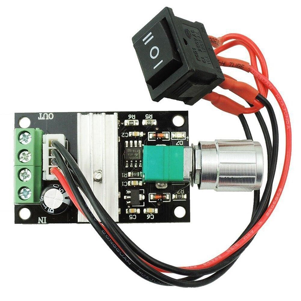 6V12V24V PWM DC motor controller actuator motor speed controller button CW//CCW