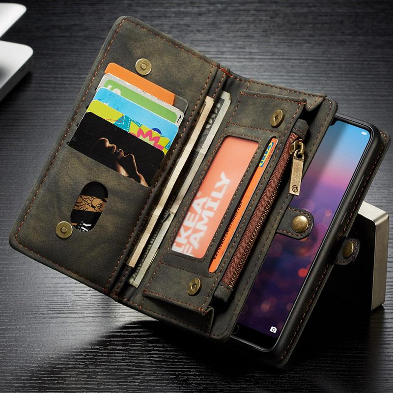 CaseMe Wallet Case For Huawei P20 P20 Pro Flip Detachable Leather Wallet On Cover Phone Case