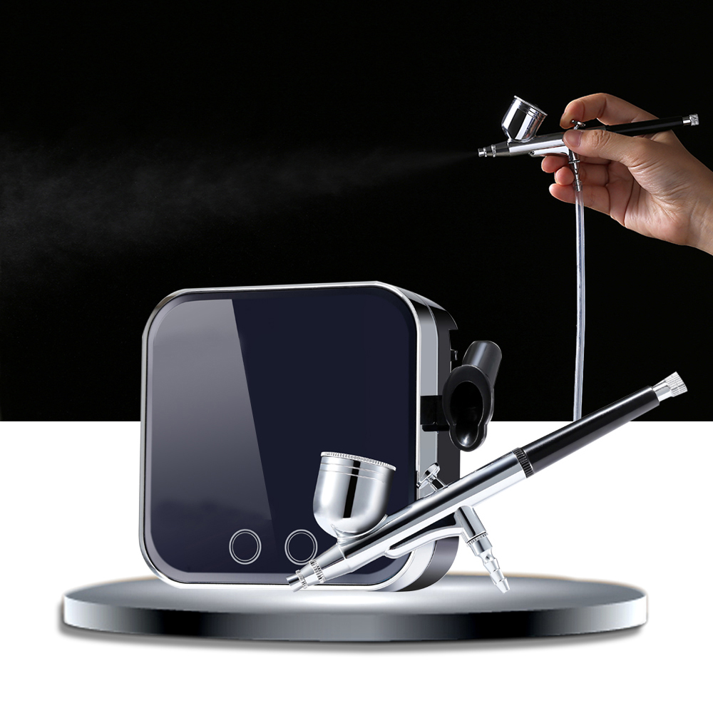 Newest Arrival Airbrush Makeup Kit With Compressor Pro 0 3mm Aerograph Face Skin Replenishment Tool EU