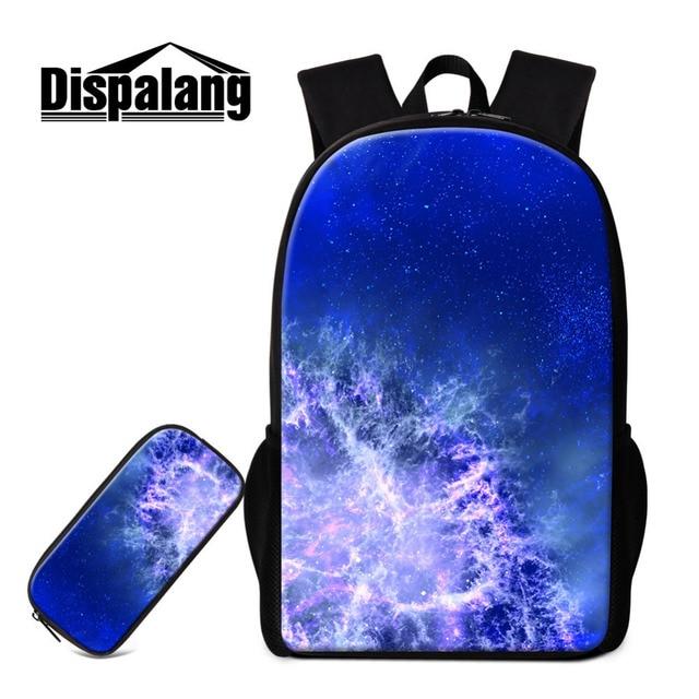 Dispalang School Bag For Age Universe Galaxy Book Bags With Pencil Travel Shoulder Men