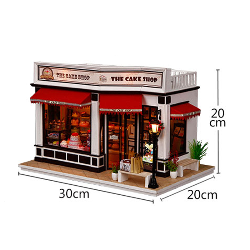 Minature Dollhouse Diy Wooden Doll House Casa Store Model With Furnitures Building Kits Christmas Gift Toys For Children K016 #Minature Dollhouse Diy Wooden Doll House Casa Store Model With Furnitures Building Kits Christmas Gift Toys For Children K016 #