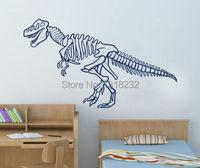 Hot Selling Dinosaur Skeleton Kids Nursery Room Wall Decal Animal Vinyl Mural Art Decor Wall Sticker Bedroom Home Decoration