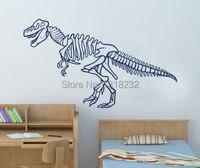 Venta caliente Esqueleto de Dinosaurio Niños Parvulario Tatuajes de Pared Animal Vinilo Arte Mural Etiqueta de la Pared Decoración Dormitorio Decoración Del Hogar