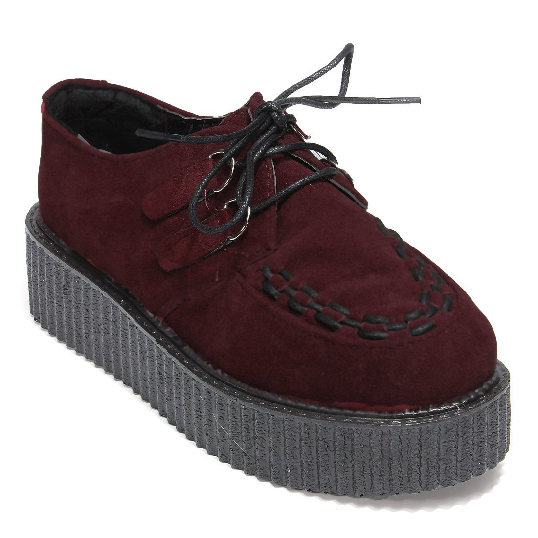 Fashion All match Thick Flat Heel Zapatos Creepers Platform Shoes ...