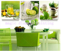 5d Diamond Embroidery Green Lemon Cup Icon 5d Diy Magic Diamond Mascots Full Resin Mosaic Painting