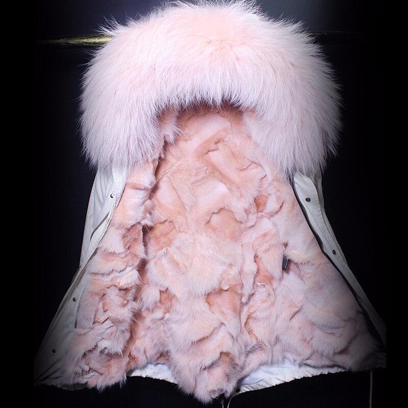 Raton Marque Manteau Femmes Parka 5 9 Col 3 6 Avec Luxe 10 2 7 Fourrure Laveur 8 Fox Veste Chien Blanc 1 Naturelle Hiver 4 De Streetwear Casual 2018 Épais tsdCxhrQ