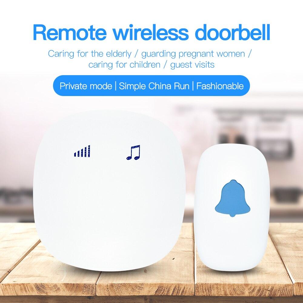 Amiable Geeair 35 Songs Optional Led Sensor Touch Button Home Wireless Doorbell 200m Range Smart Door Bell Alarm Us Plug Outdoor Ring Door Intercom