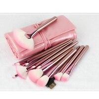 New 22pcs Pink Bling Bling Unicorn Brushes Set Foundation Blending Power With PU Bag Makeup Brushes