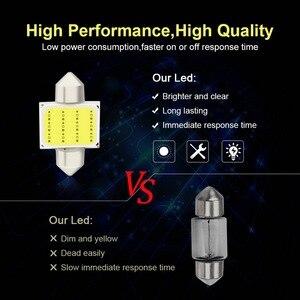 Image 4 - Safego 10pcs C5W LED COB Festoon 31mm 36mm 39mm 42/41mm Bulbs for Car License Plate Light Interior Reading Lamp DC 12V White