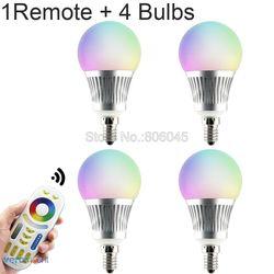 MiLight E14 5 Вт RGB + CCT светодиодный лампы Смарт Wi-Fi затемненный Светодиодный прожектор FUT013 AC 86-265V 2,4 г RF Беспроводной с Wi-Fi и дистанционным управлен...
